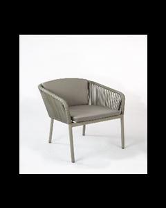 Chapala chair en aluminio tejido wicker  con cojin