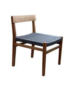 Santiagp chair madera de parota tejido en naylon