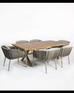Mesa chapala aluminio y polywood 90X1990X75