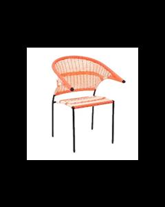 Ruza Chair en vinil y acero pintado